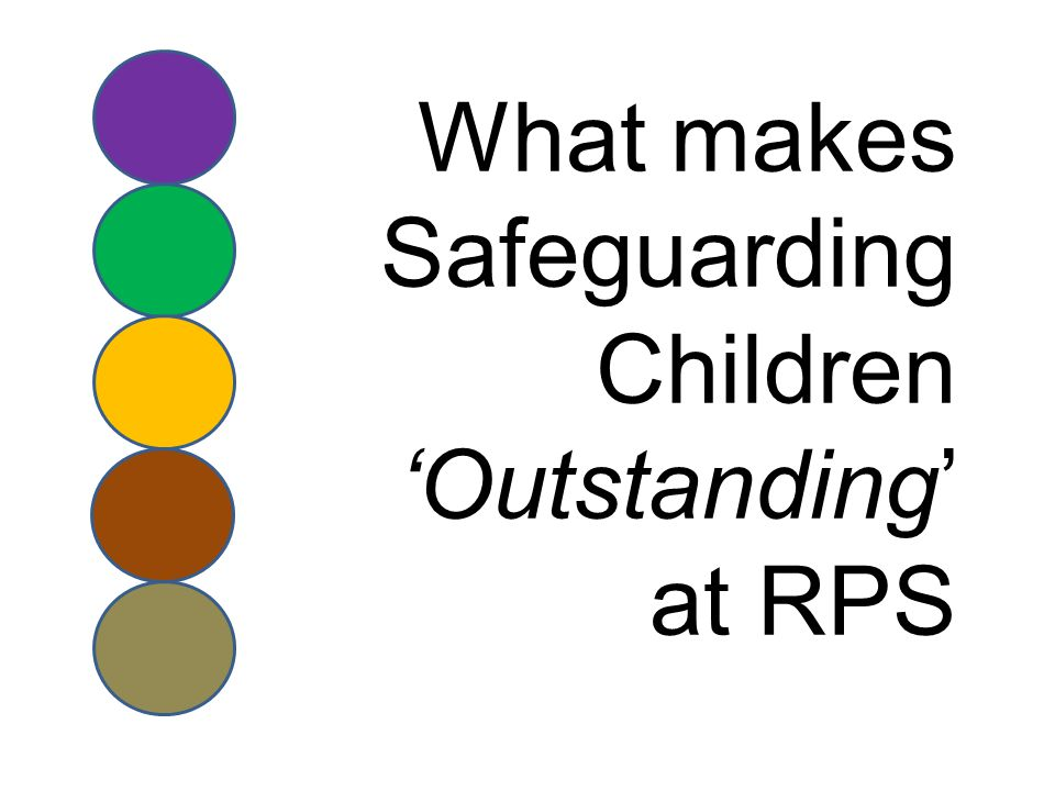 What makes Safeguarding Children 'Outstanding' at RPS