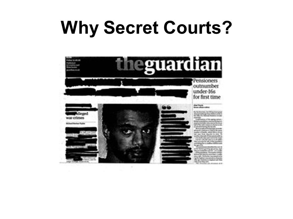 Why Secret Courts