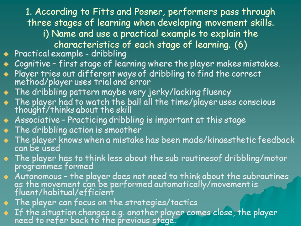 Homework  In pairs you will need to explain the advantages and disadvantages of each type of practice and devise a practice to demonstrate this method..