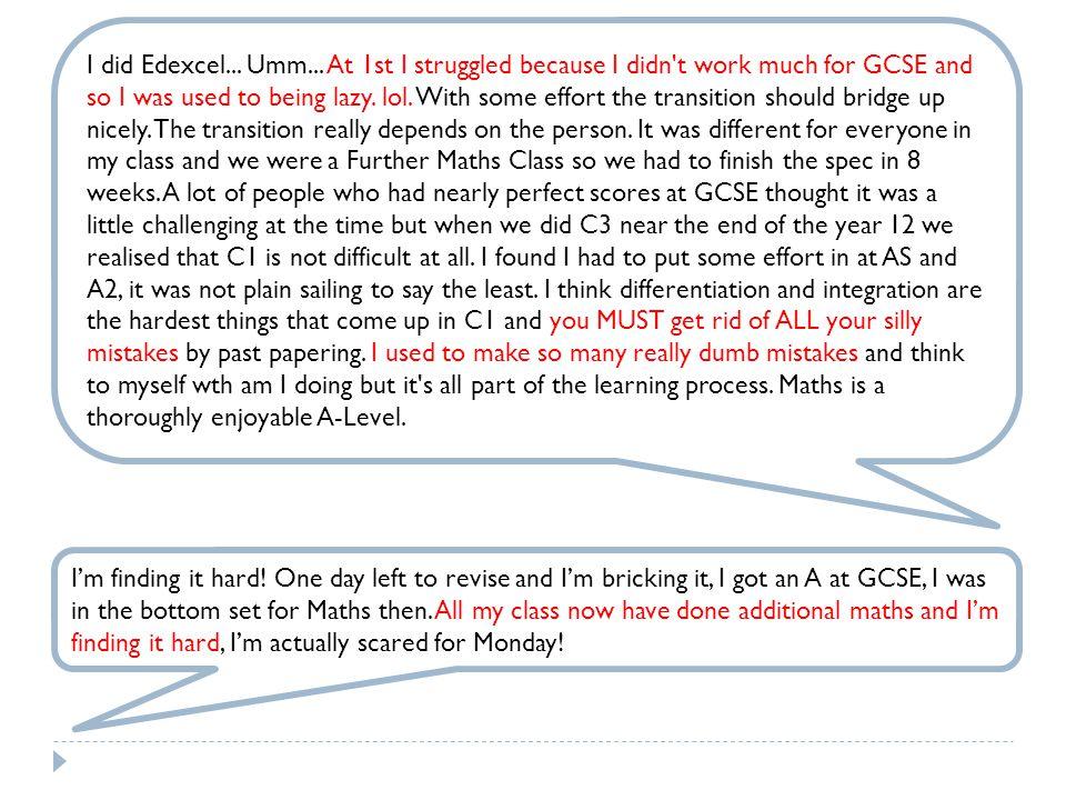 I did Edexcel... Umm...