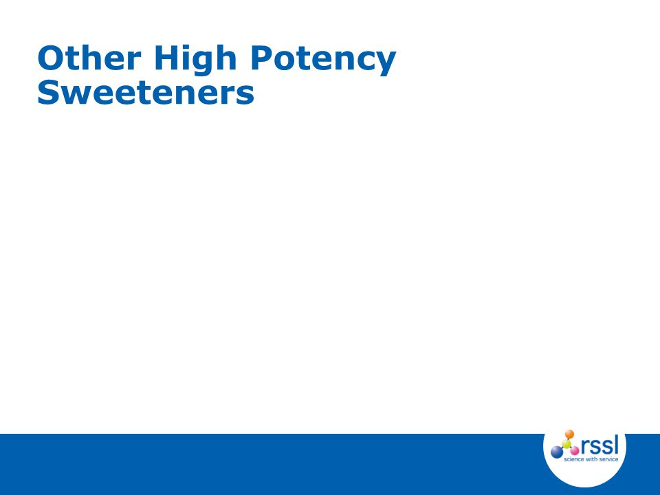 Other High Potency Sweeteners