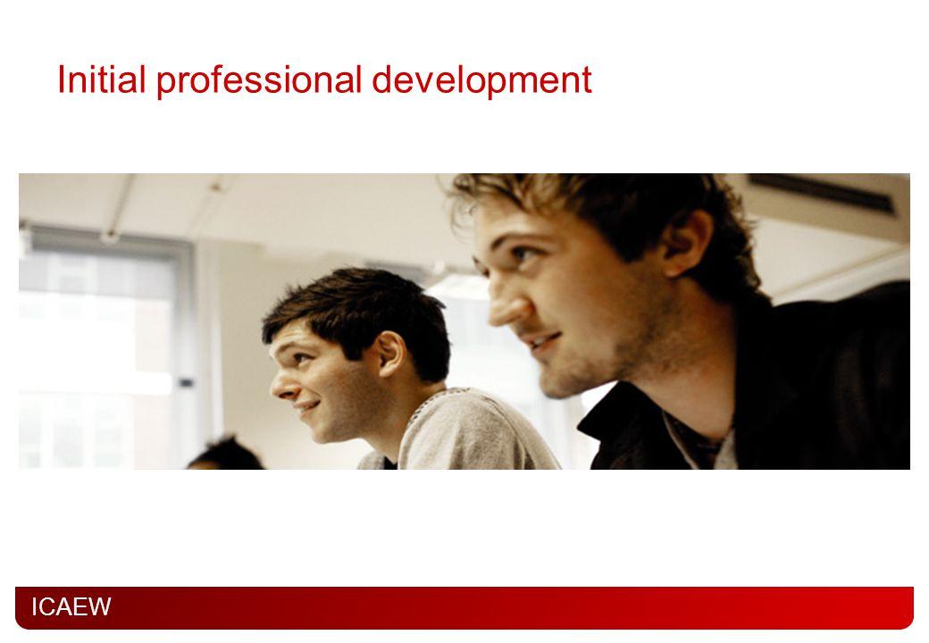 ICAEW Initial professional development