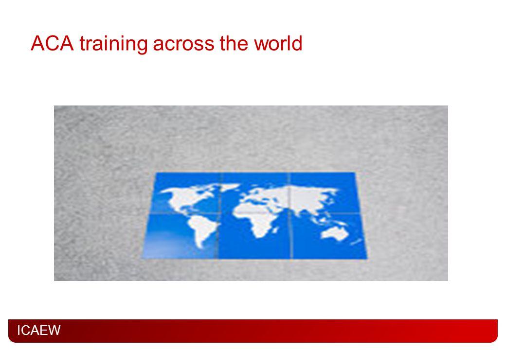 ICAEW ACA training across the world