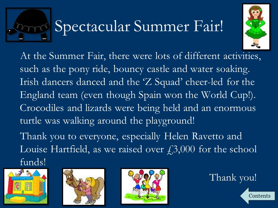 Spectacular Summer Fair.