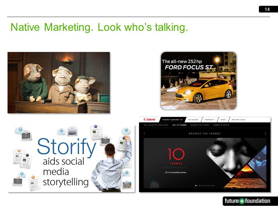 14 Native Marketing. Look who's talking.