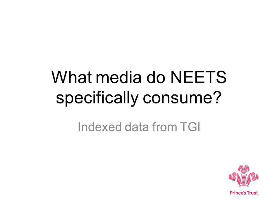 What media do NEETS specifically consume Indexed data from TGI
