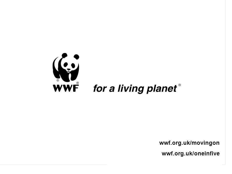 wwf.org.uk/movingon wwf.org.uk/oneinfive