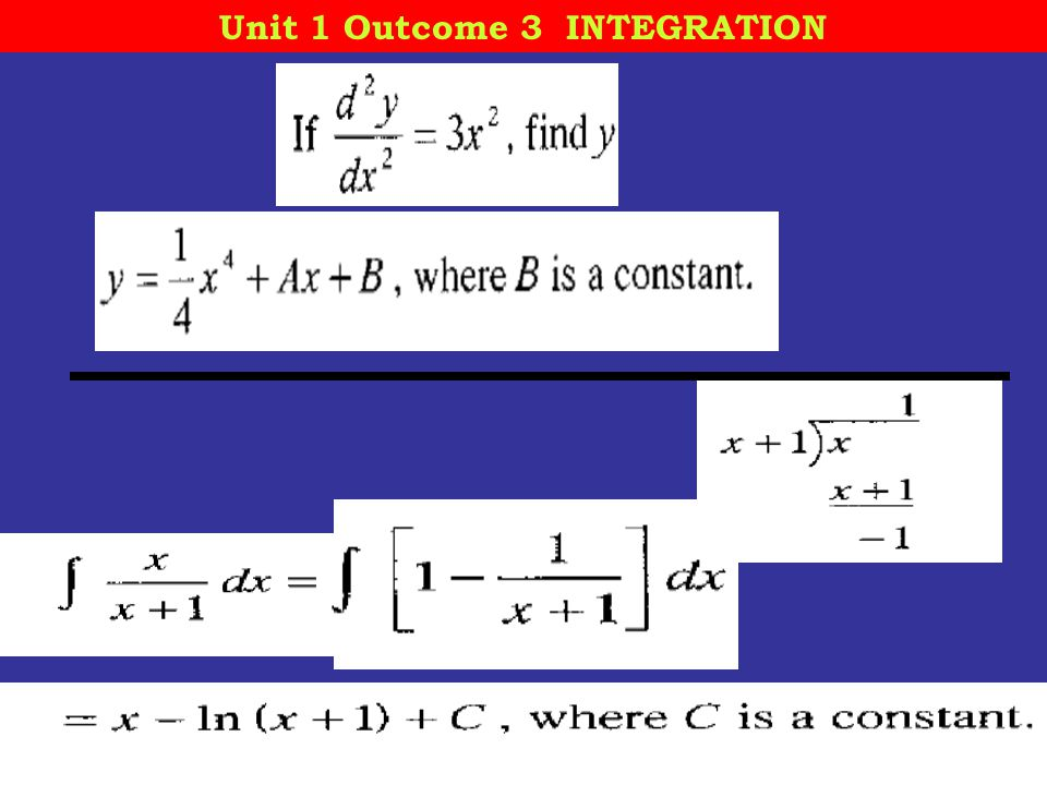 12 October, 2014 St Mungo's Academy 13 Unit 1 Outcome 3 INTEGRATION