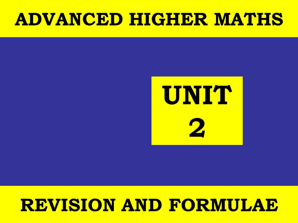12 October, 2014 St Joseph s College ADVANCED HIGHER REVISION 42 Example 1(contd)Mathematical Models Unit 2 Outcome 2 FURTHER INTEGRATION