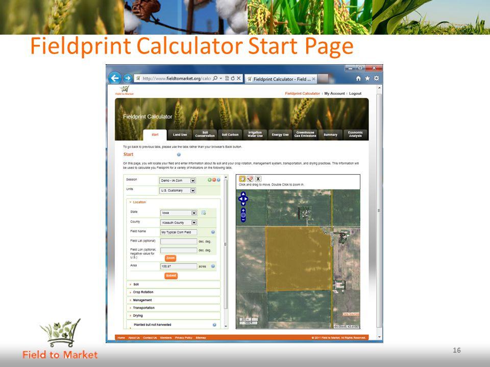 Fieldprint Calculator Start Page 16