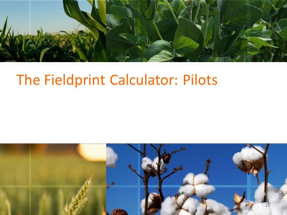 19 The Fieldprint Calculator: Pilots