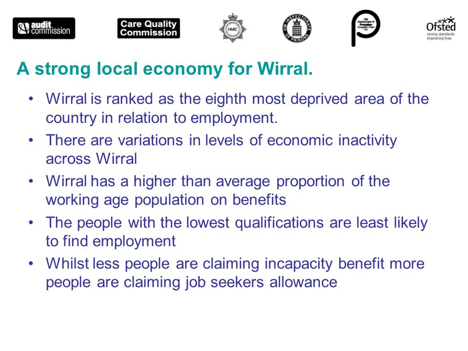 A strong local economy for Wirral.