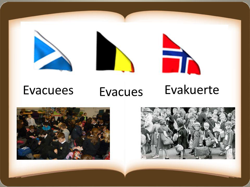 Evacuees Evakuerte Evacues