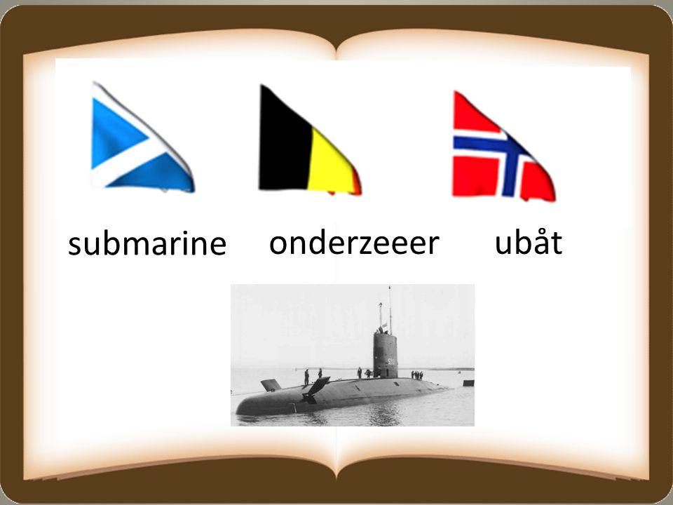 submarine onderzeeerubåt