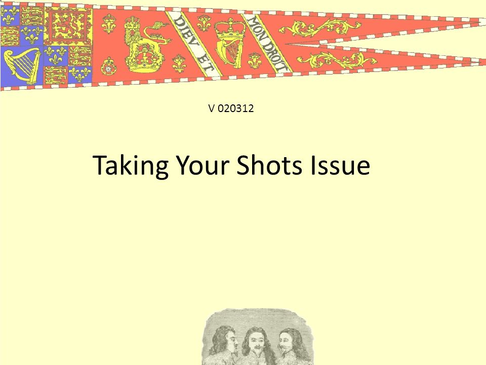 Taking Your Shots Issue V 020312
