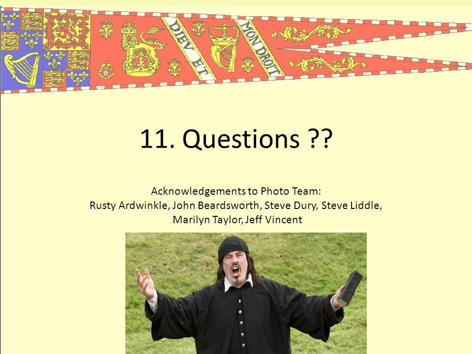 11. Questions .