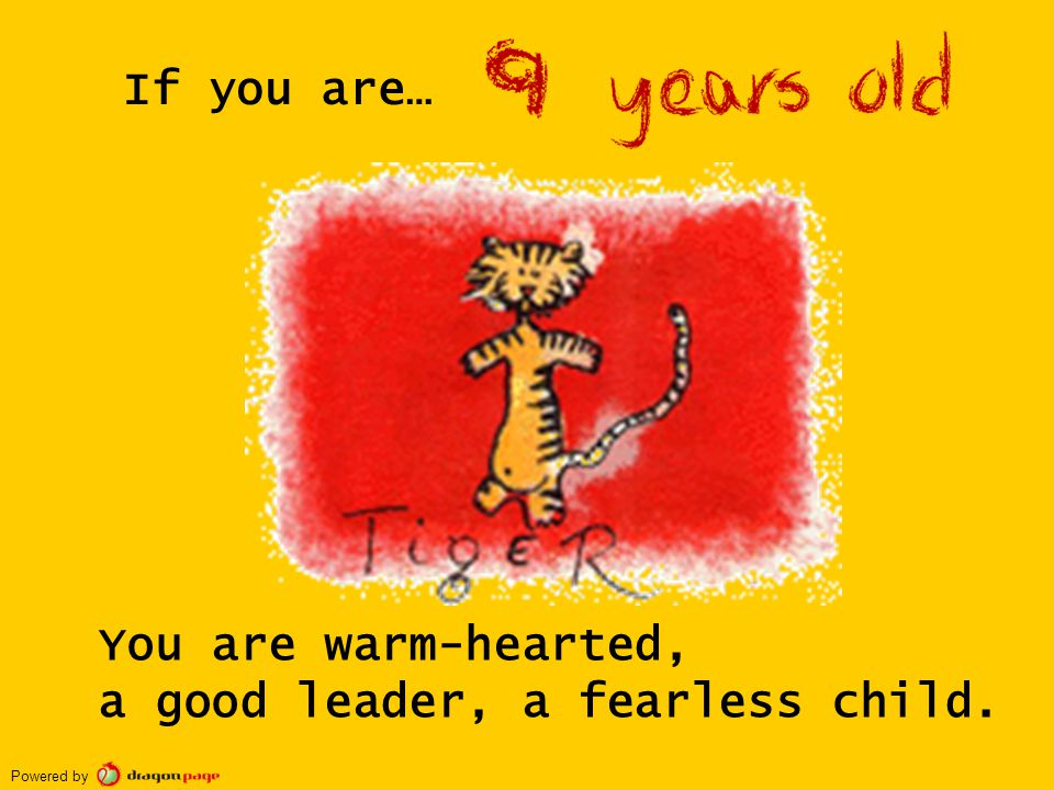 You are warm-hearted, a good leader, a fearless child. If you are… Powered by