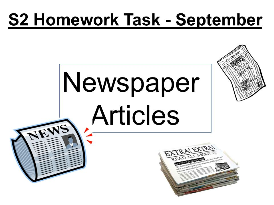 S2 Homework Task - September Newspaper Articles