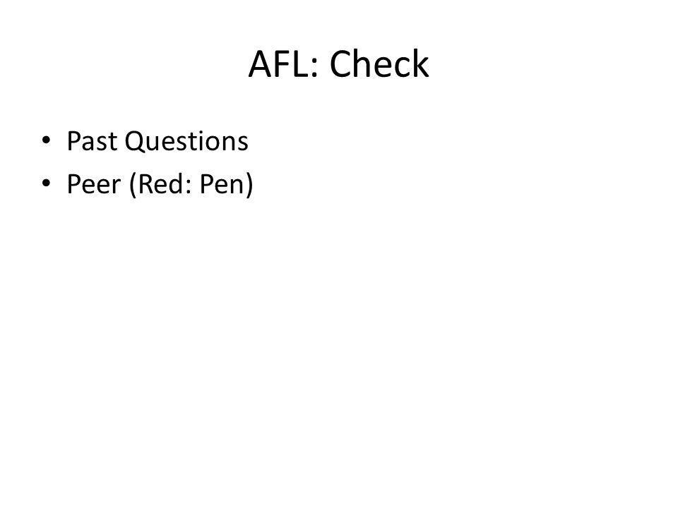 AFL: Check Past Questions Peer (Red: Pen)