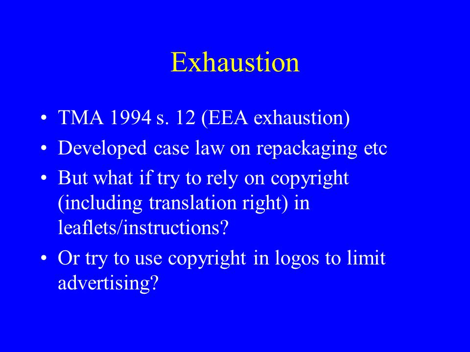 Exhaustion TMA 1994 s.