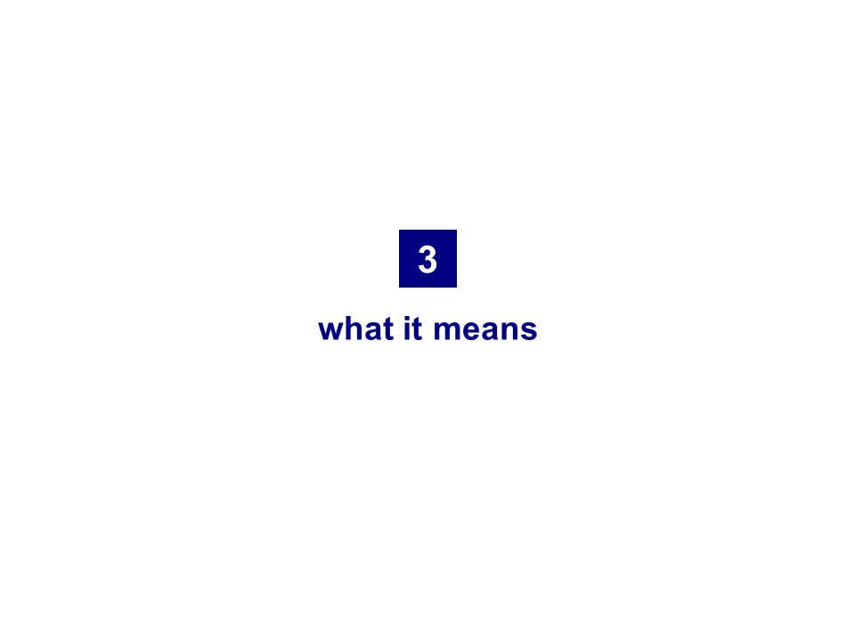3 what it means