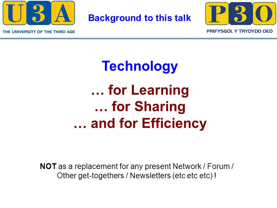 Technology – For Sharing From Third Age Matters Summer 2013