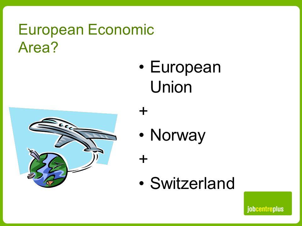 European Economic Area European Union + Norway + Switzerland
