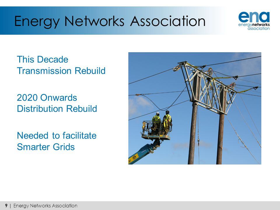 Energy Networks Association This Decade Transmission Rebuild 2020 Onwards Distribution Rebuild Needed to facilitate Smarter Grids 9 | Energy Networks