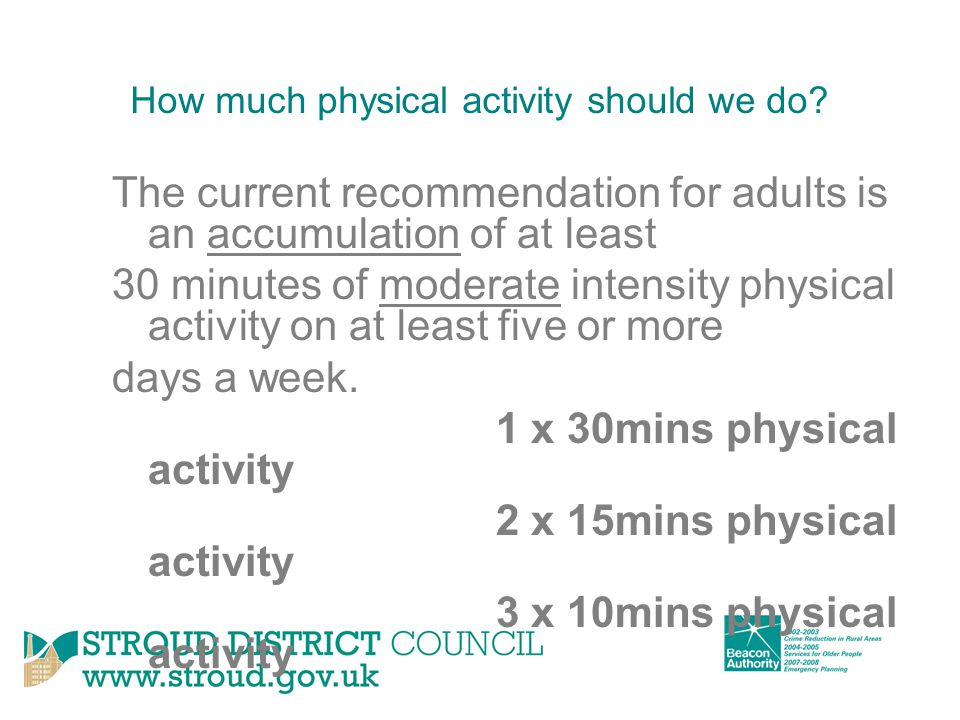 How much physical activity should we do.
