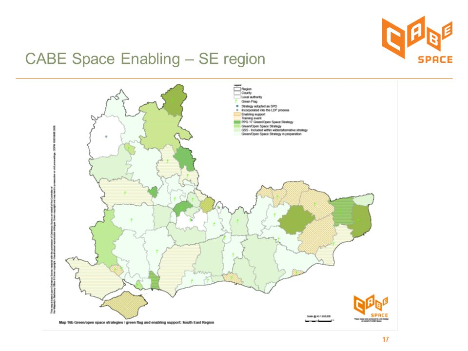 17 CABE Space Enabling – SE region
