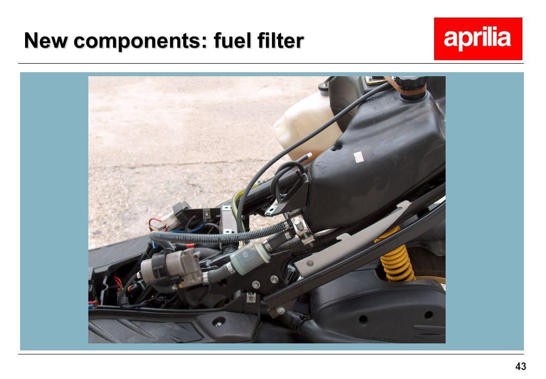 43 New components: fuel filter