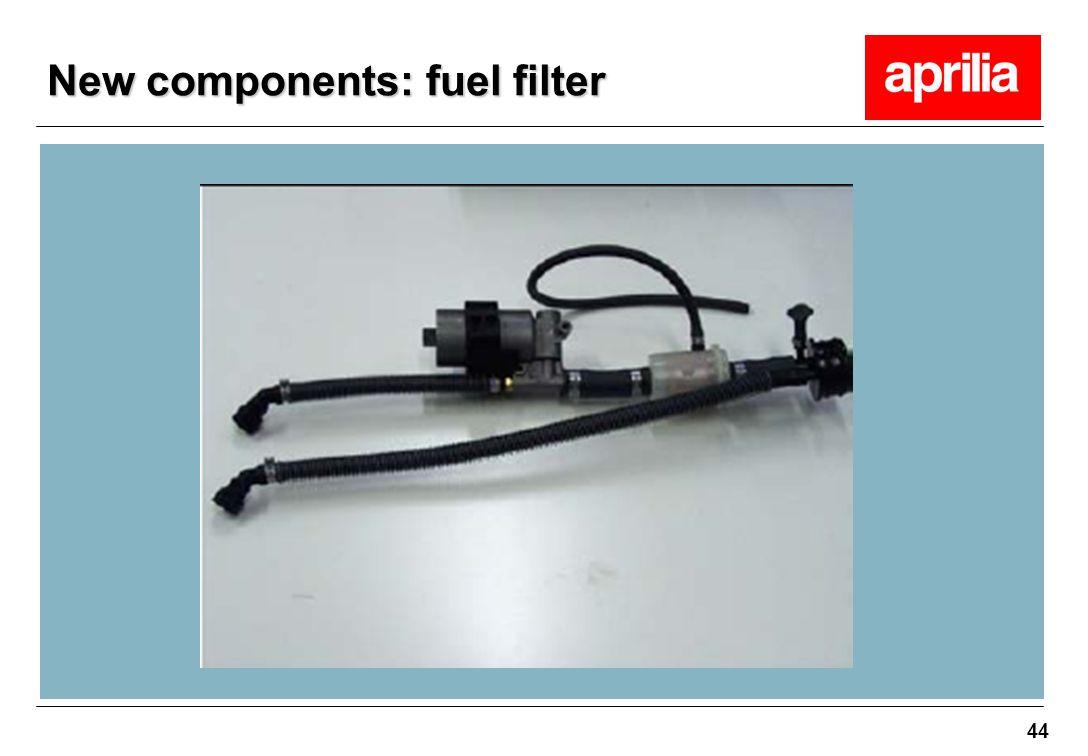44 New components: fuel filter