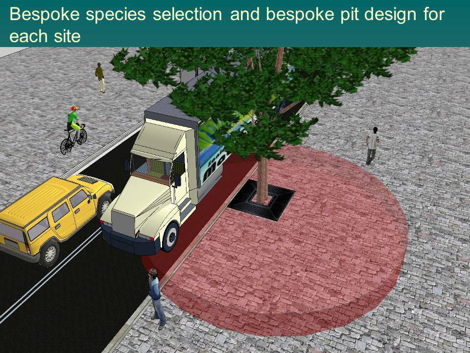Bespoke species selection and bespoke pit design for each site