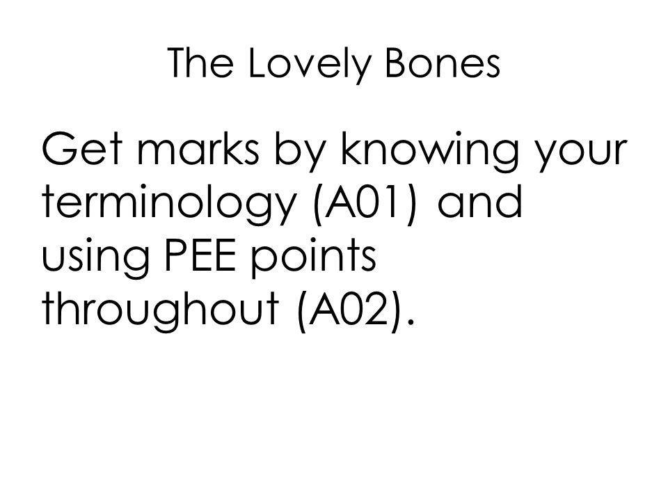 Help with The Lovely Bones Essay?