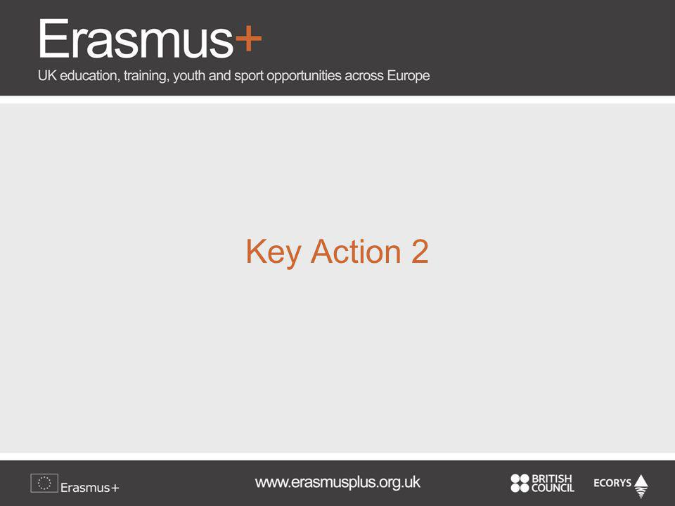 Decentralised Activities Key Action 2: Co- operation for Innovation & Exchange of Best Practices Strategic Partnerships