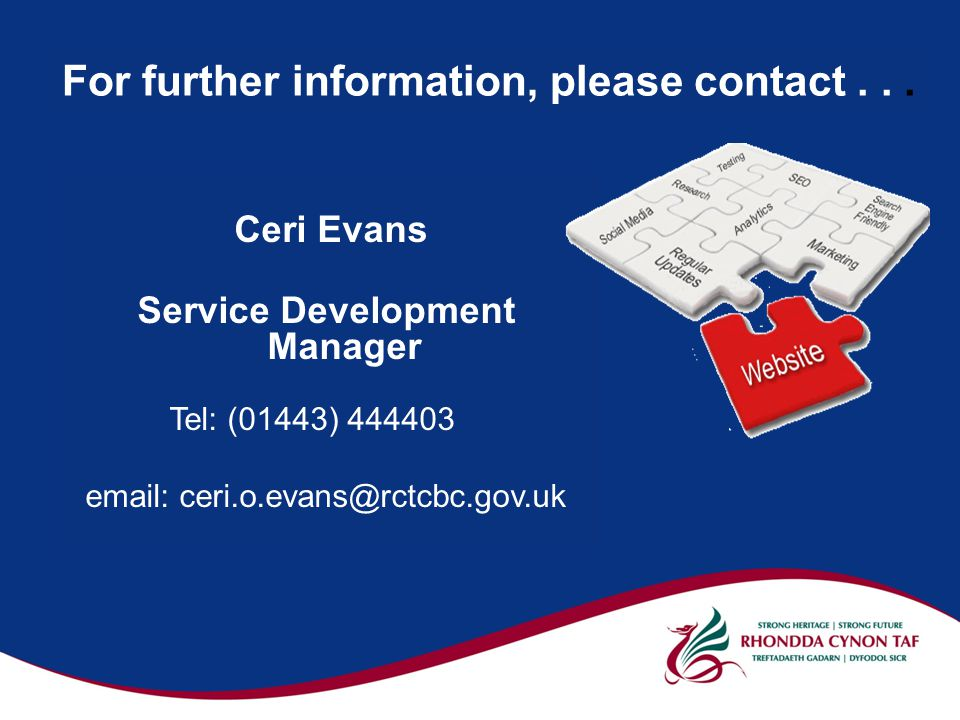 For further information, please contact...