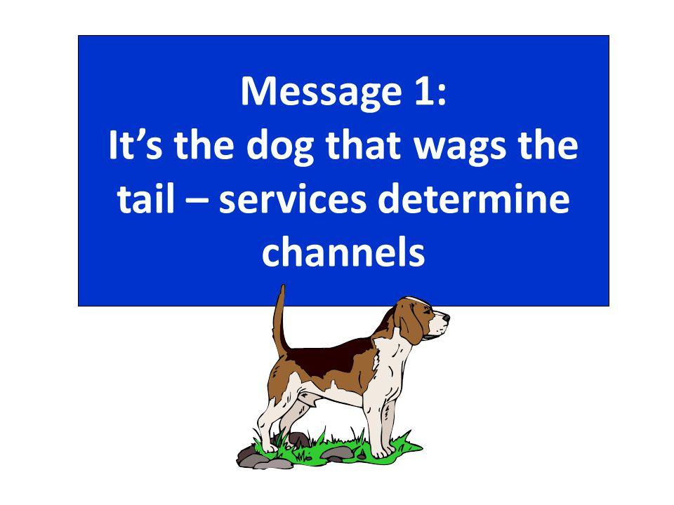 Message 1: It's the dog that wags the tail – services determine channels