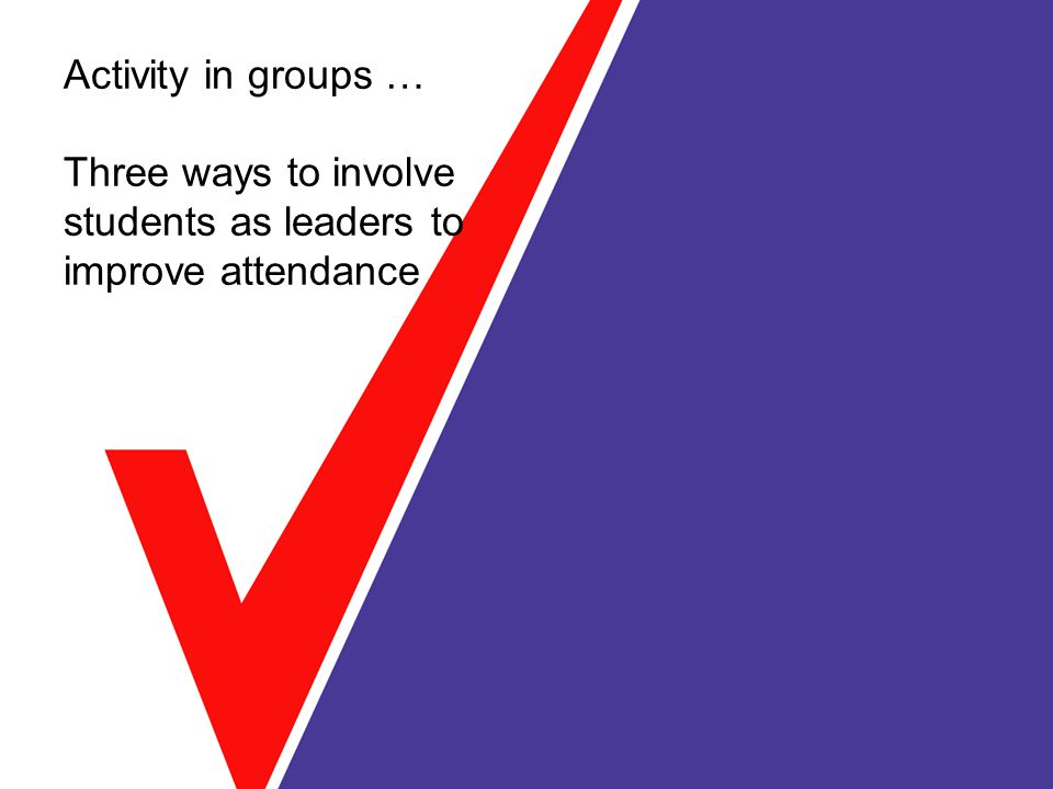 Activity in groups … Three ways to involve students as leaders to improve attendance
