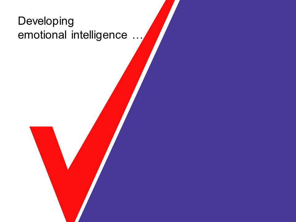 Developing emotional intelligence …