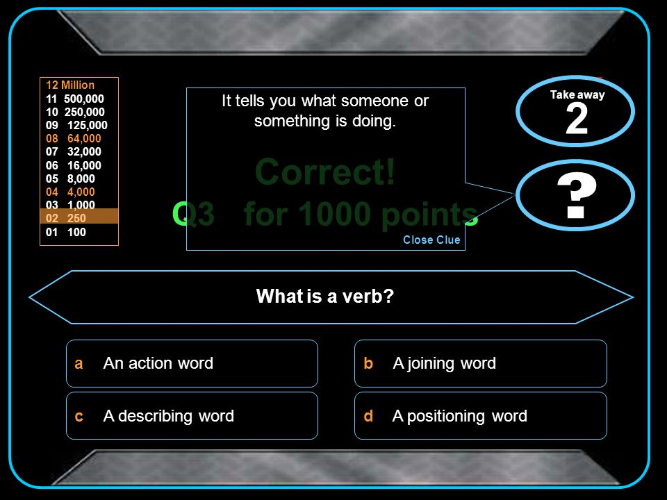 Sorry! That was the wrong answer You go away with 0 points Click here to start again