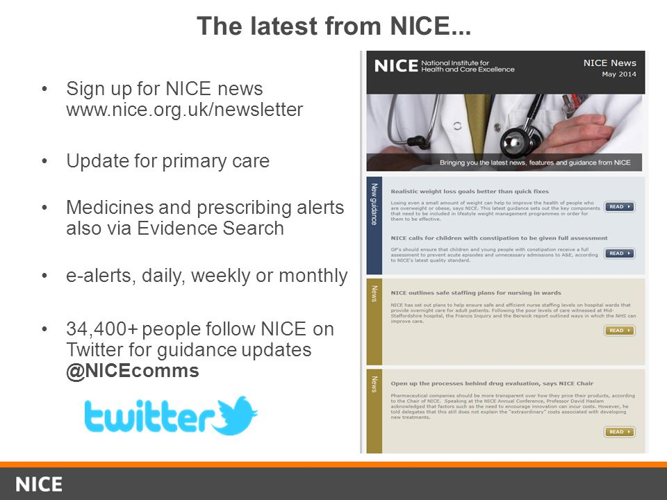 Evidence Search awareness bulletins and Evidence updates