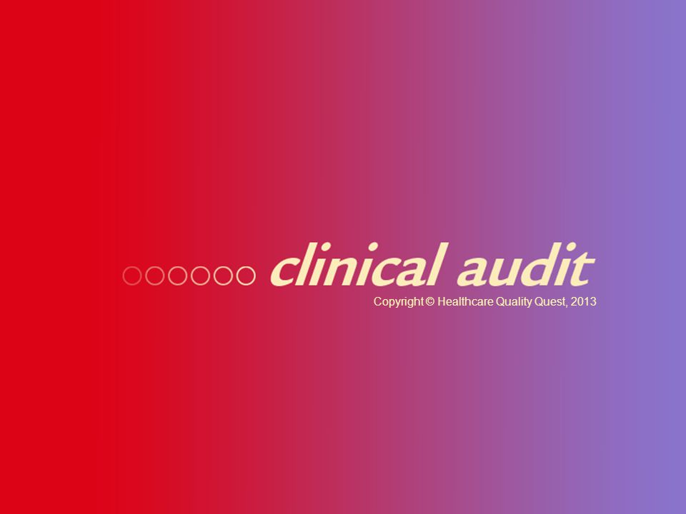 Proposed standards for a national clinical audit — How we got involved and what we have learned