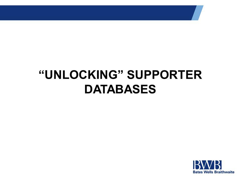 UNLOCKING SUPPORTER DATABASES