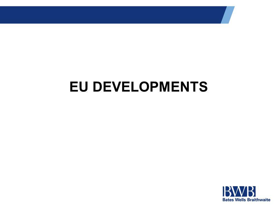 EU DEVELOPMENTS