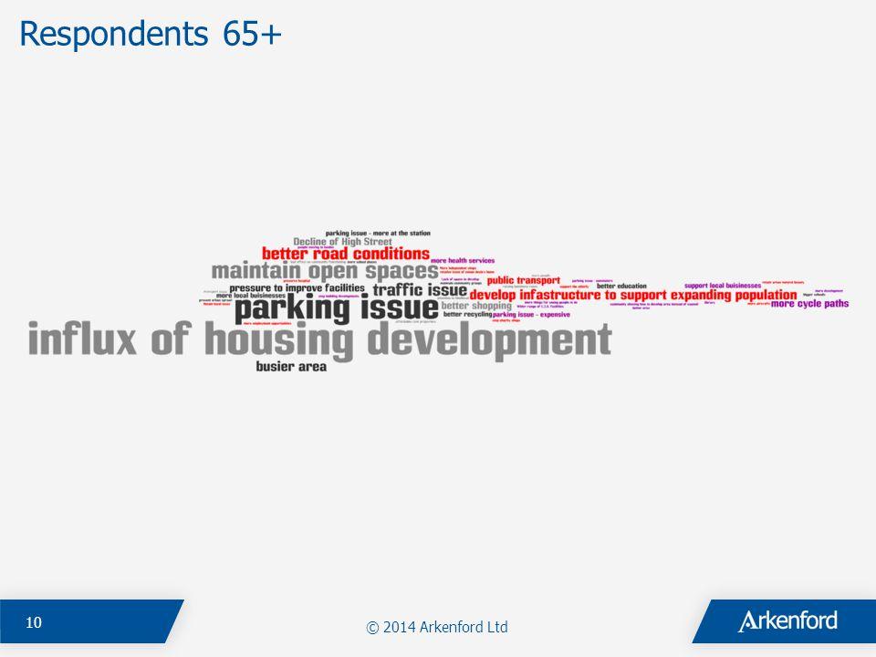 Respondents 65+ © 2014 Arkenford Ltd 10
