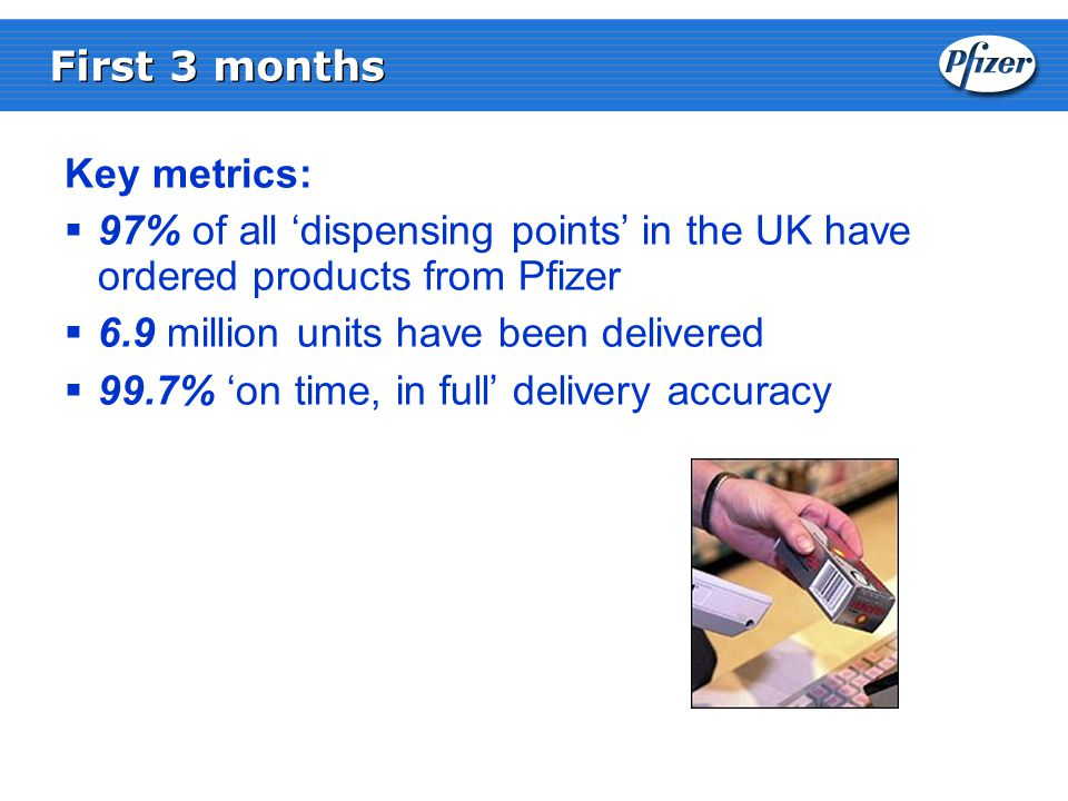 Pfizer has the ability to through DTP to develop a new pharmacy commercial value proposition and service approach  UK Pharmacy has an emerging role in the management of patient treatment through the new Pharmacy contract  Changes in Pfizer portfolio in the next few years mean pharmacy purchasing choice becomes a more important factor in the growth of many Pfizer products  Pfizer are developing a number of customer facing strategies to support our wide portfolio, and provide additional services to pharmacy Commercial Opportunity