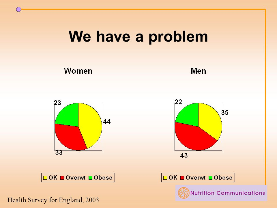 We have a problem Health Survey for England, 2003