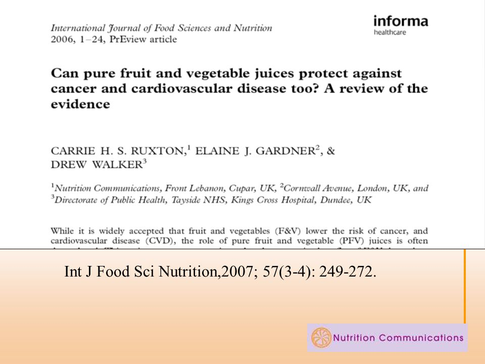 Int J Food Sci Nutrition,2007; 57(3-4): 249-272.