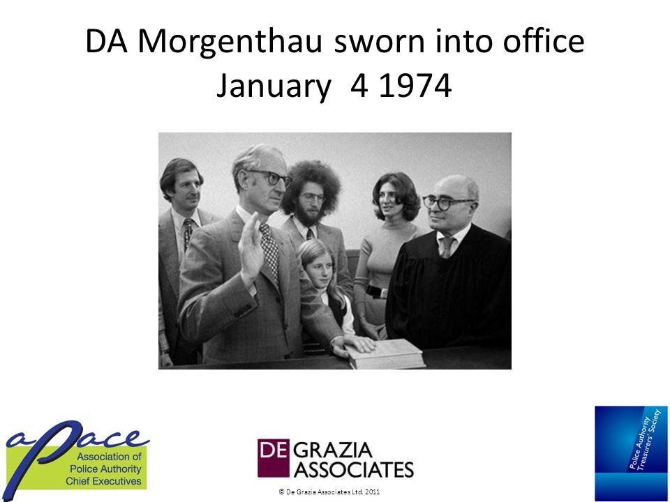 © De Grazia Associates Ltd. 2011 DA Morgenthau sworn into office January 4 1974
