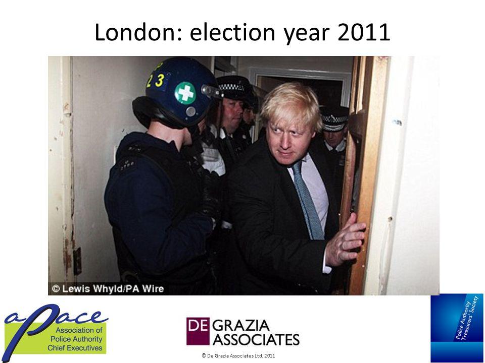 © De Grazia Associates Ltd. 2011 London: election year 2011
